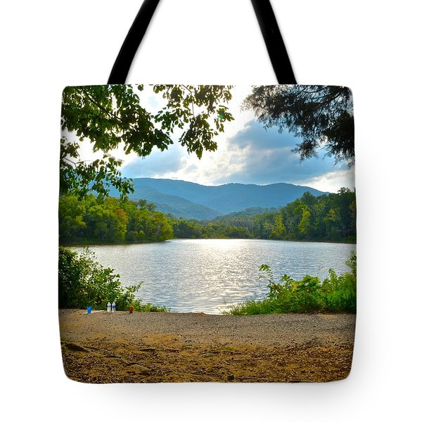 On Golden Pond Tote Bag by Frozen in Time Fine Art Photography