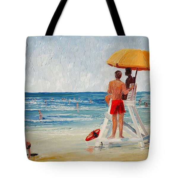 On Guard Tote Bag by Keith Wilkie