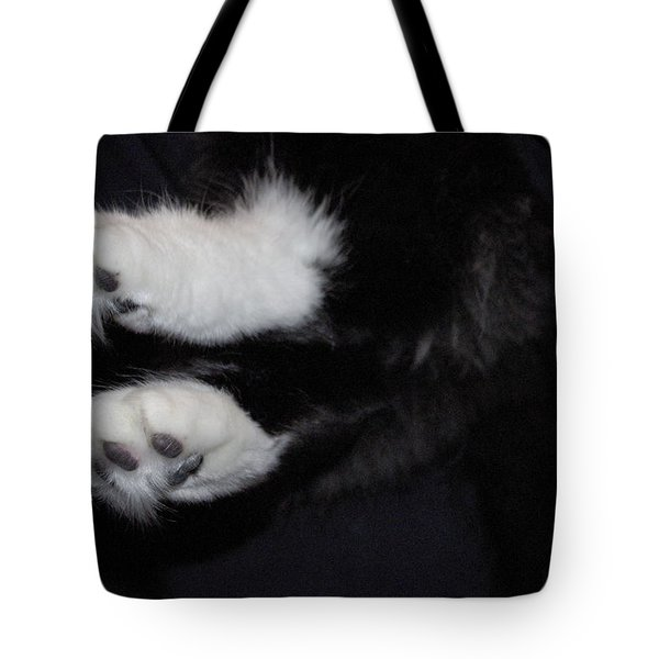 On Little Cat Feet Tote Bag by Marilyn Wilson