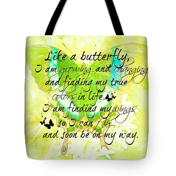On My Way Tote Bag by Tina  LeCour