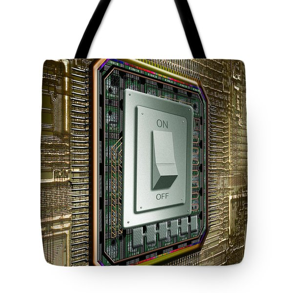 On Off Switch On Circuits Tote Bag by Mike Agliolo