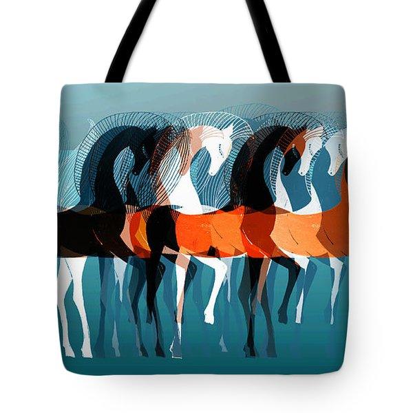 On Parade Tote Bag by Stephanie Grant
