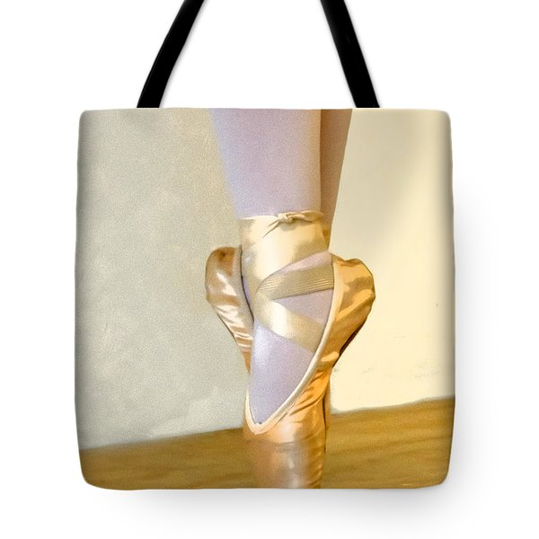 Ballet Toes On Point Tote Bag