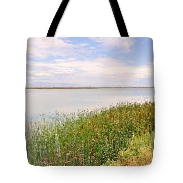 Tote Bag featuring the photograph On Shore by Marilyn Diaz