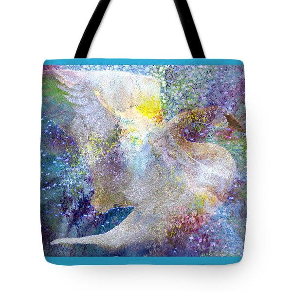 On Swan's Wings Tote Bag