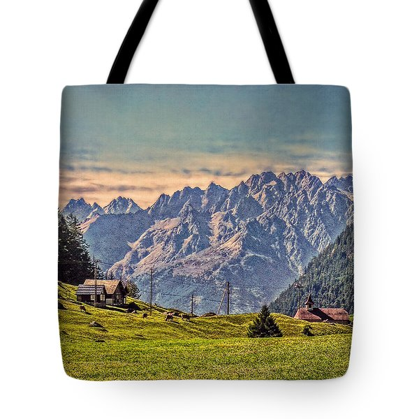 On The Alp Tote Bag by Hanny Heim
