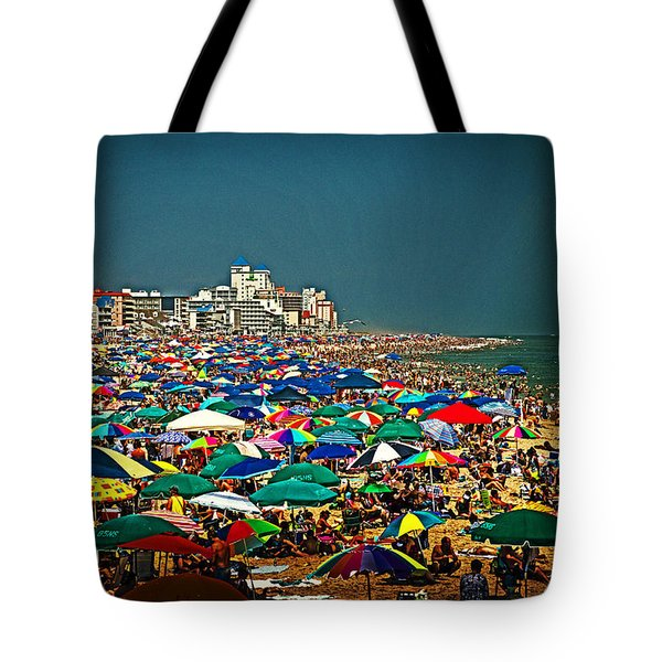 On The Beach In August Tote Bag