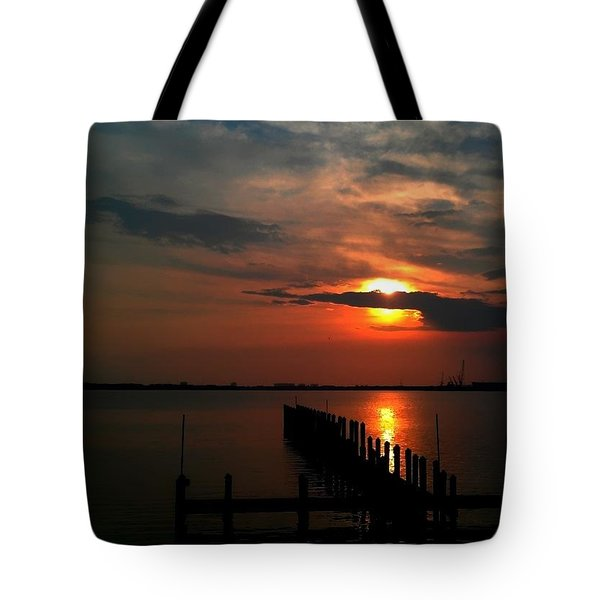 On The Boardwalk Tote Bag by Debra Forand