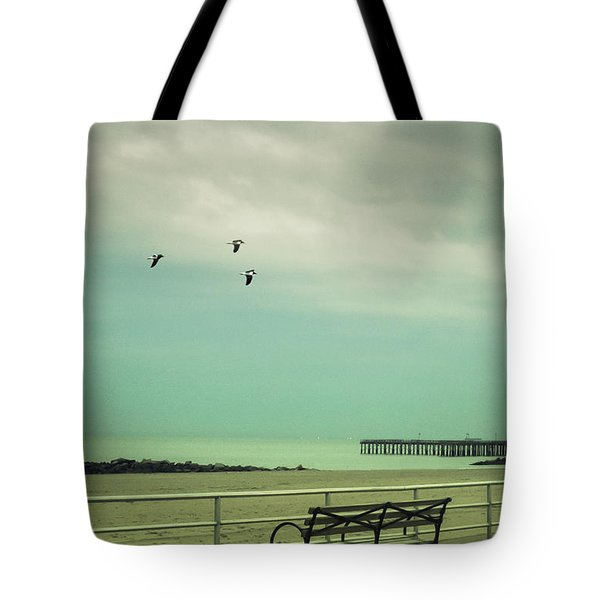 On The Boardwalk Tote Bag by Margie Hurwich