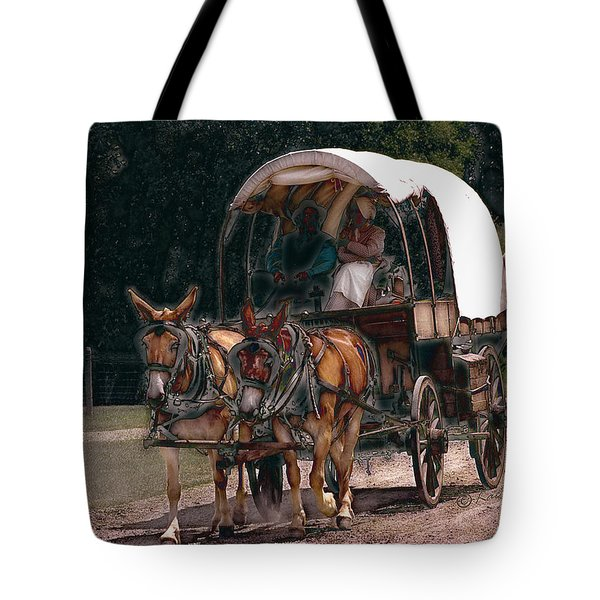 On The Bozeman Trail Tote Bag by Kae Cheatham