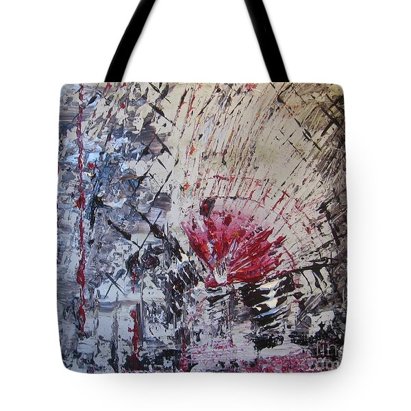 Tote Bag featuring the painting On The Bright Side by Lucy Matta