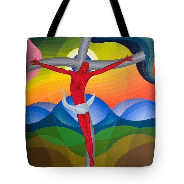 On The Cross Tote Bag by Emil Parrag