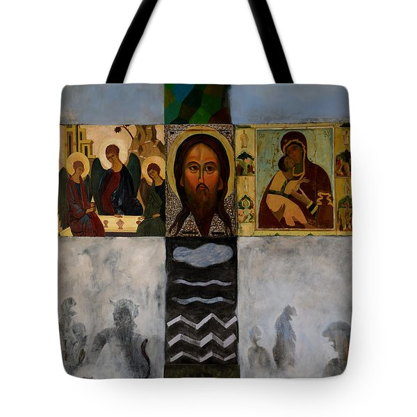 On The Cross Tote Bag by Jukka Nopsanen