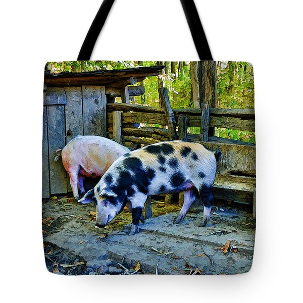 Tote Bag featuring the photograph On The Farm by Kenny Francis