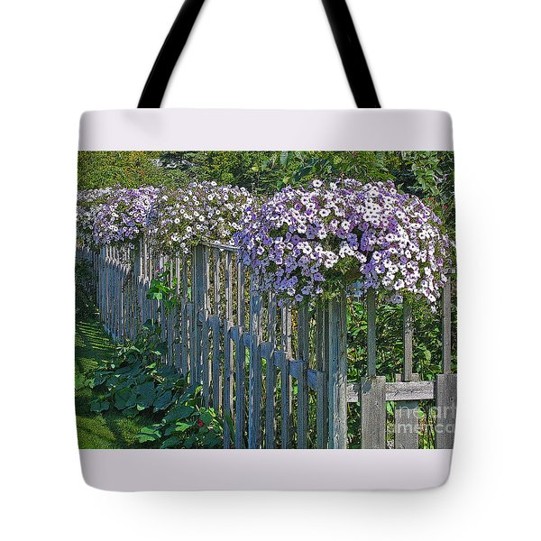 On The Fence Tote Bag by Ann Horn
