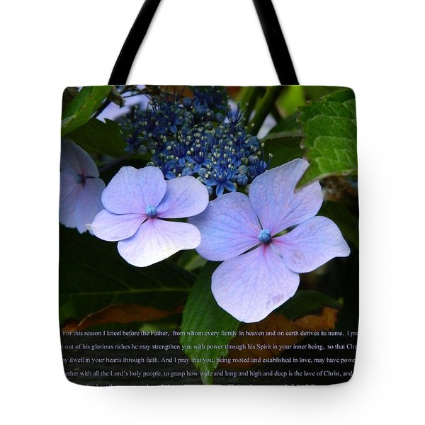 On The Fence Hydrangea Eph 3 14 21 Tote Bag by Nicki Bennett