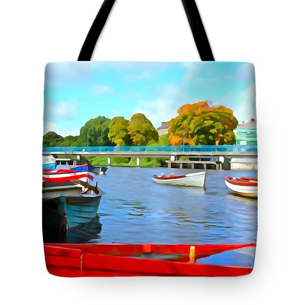 Tote Bag featuring the photograph On The Garavogue by Charlie and Norma Brock