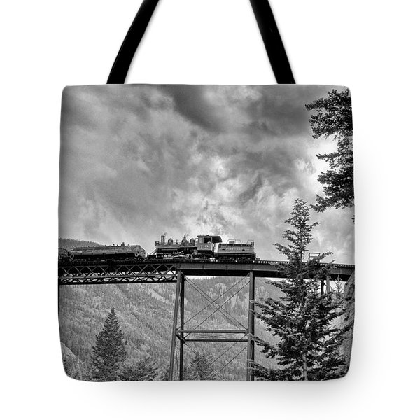On The High Bridge Tote Bag by Shelly Gunderson
