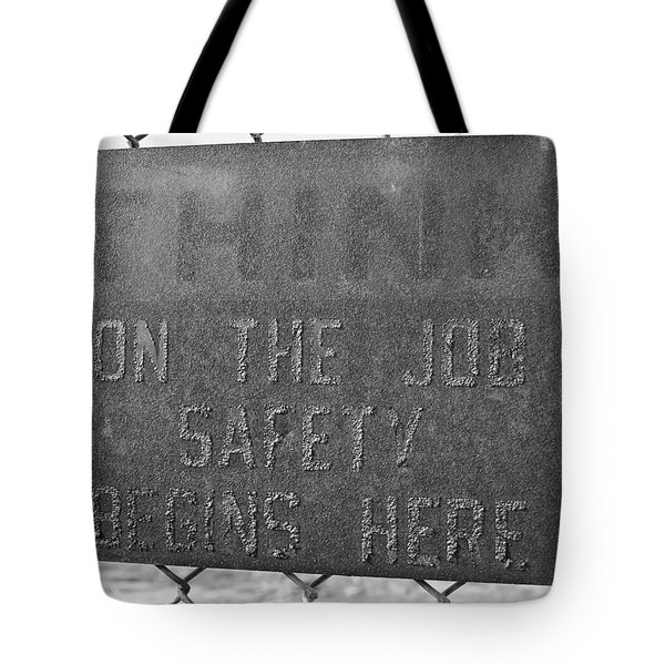 On The Job Safety Tote Bag