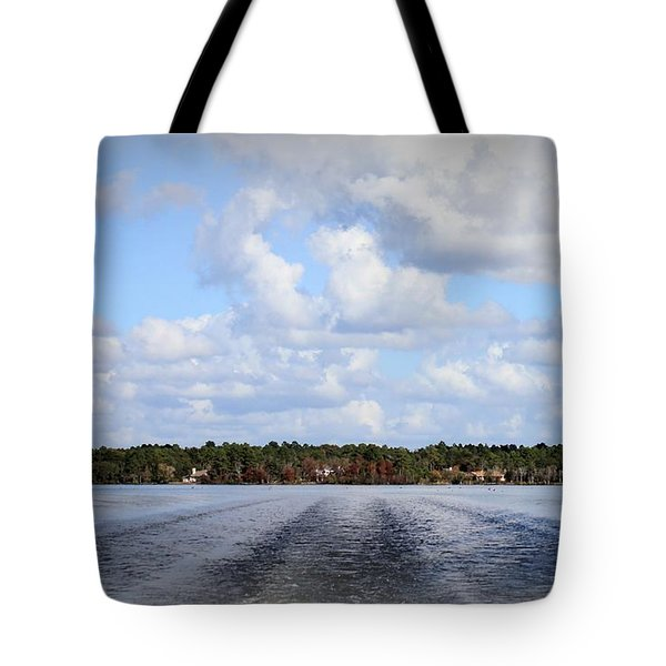 Tote Bag featuring the photograph On The Lake by Debra Forand