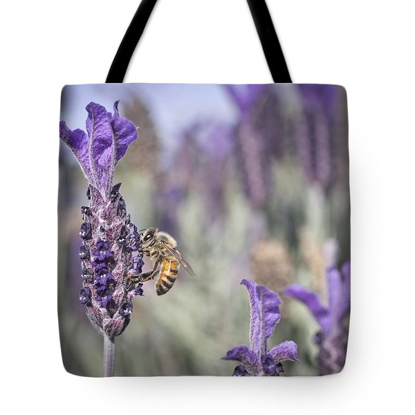 On The Lavender  Tote Bag
