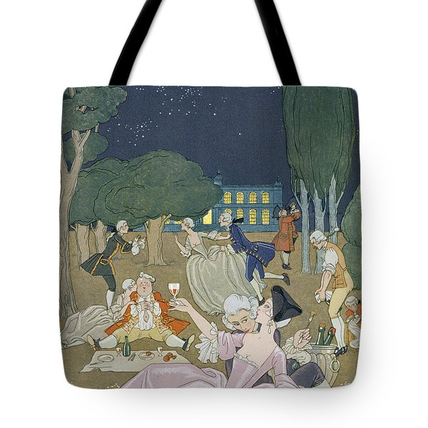 On The Lawn Tote Bag by Georges Barbier