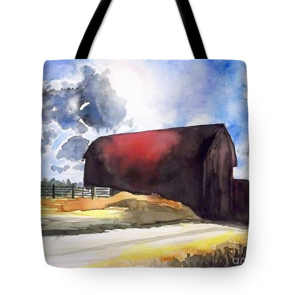 On The Macon Road. - Saline Michigan Tote Bag by Yoshiko Mishina