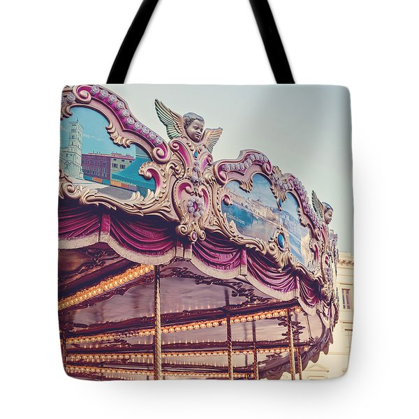 On The Piazza Tote Bag by Melanie Alexandra Price