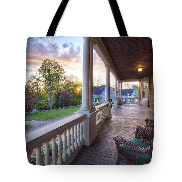 On The Porch Tote Bag by Eric Gendron
