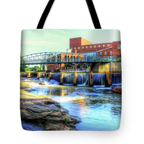 On The Reedy River In Greenville Tote Bag