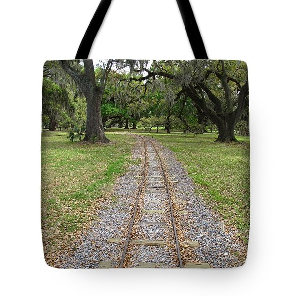 Tote Bag featuring the photograph On The Right Track by Beth Vincent
