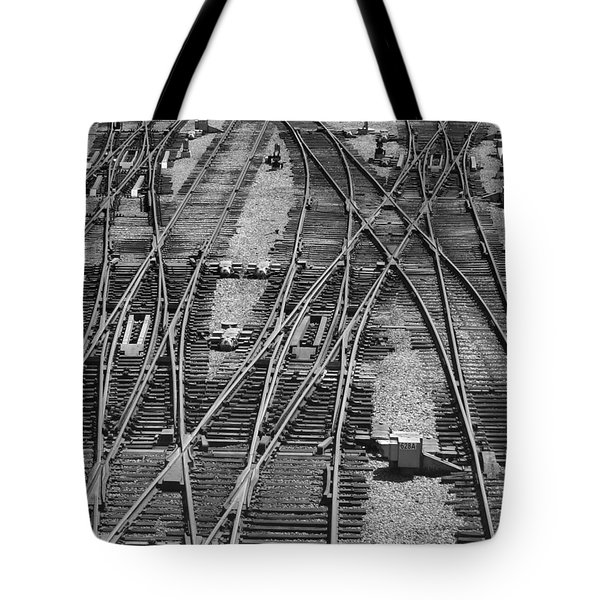 Tote Bag featuring the photograph On The Right Track? by ELDavis Photography