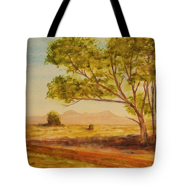 On The Road To Broken Hill Nsw Australia Tote Bag by Tim Mullaney