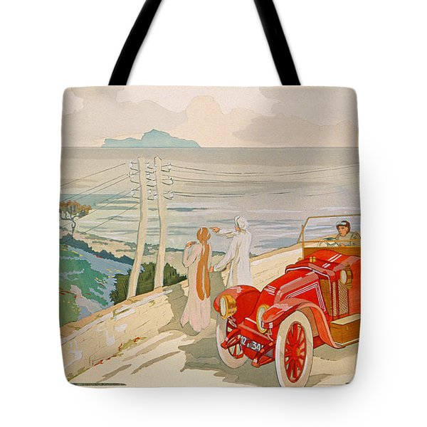 On The Road To Naples Tote Bag by Aldelmo
