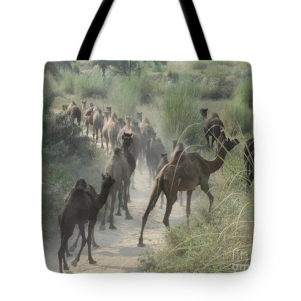 On The Road To Pushkar Tote Bag