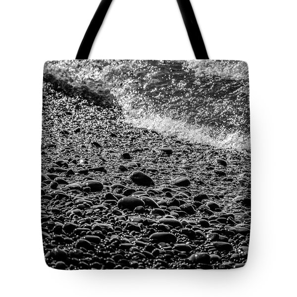 On The Rocks At French Beach Tote Bag