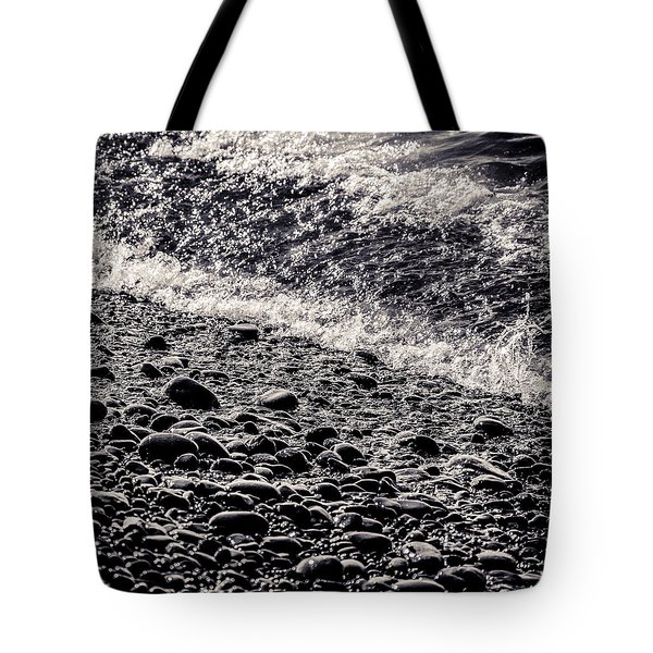 On The Rocks  French Beach Square Tote Bag