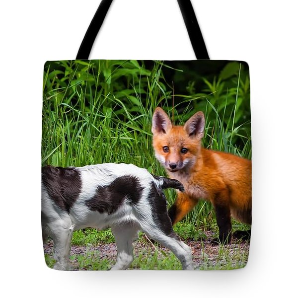 On The Scent Tote Bag by Steve Harrington