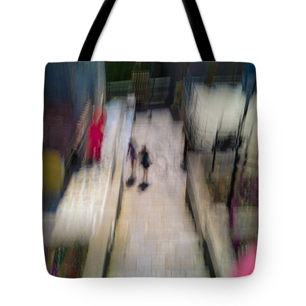 Tote Bag featuring the photograph On The Stairs by Alex Lapidus