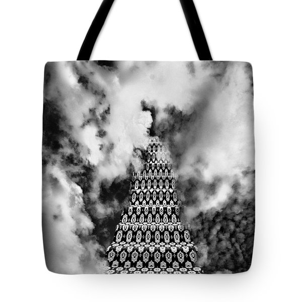 On The Stairway To Heaven Bw Palm Springs Tote Bag by William Dey