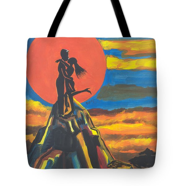On The Summit Of Love Tote Bag