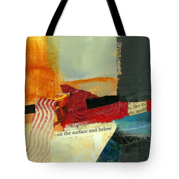 On The Surface And Below Tote Bag by Jane Davies
