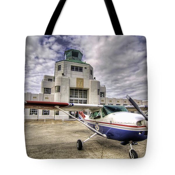 On The Tarmac Tote Bag by Tim Stanley