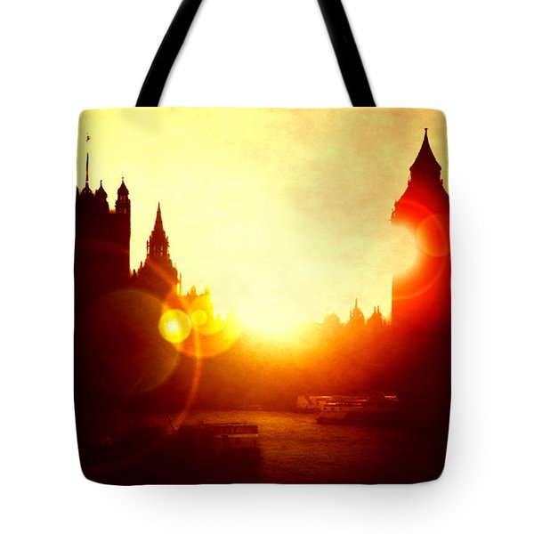 Tote Bag featuring the digital art Big Ben On The Thames by Fine Art By Andrew David
