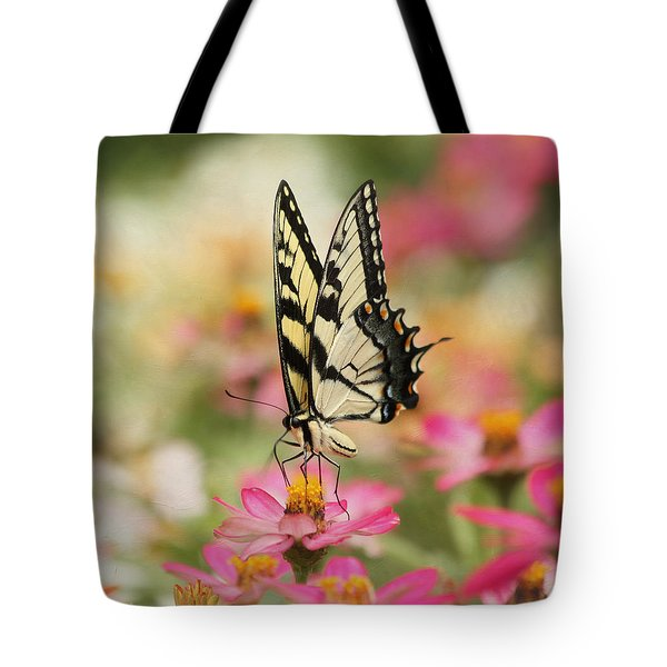 On The Top - Swallowtail Butterfly Tote Bag by Kim Hojnacki