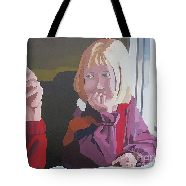 On The Train Tote Bag