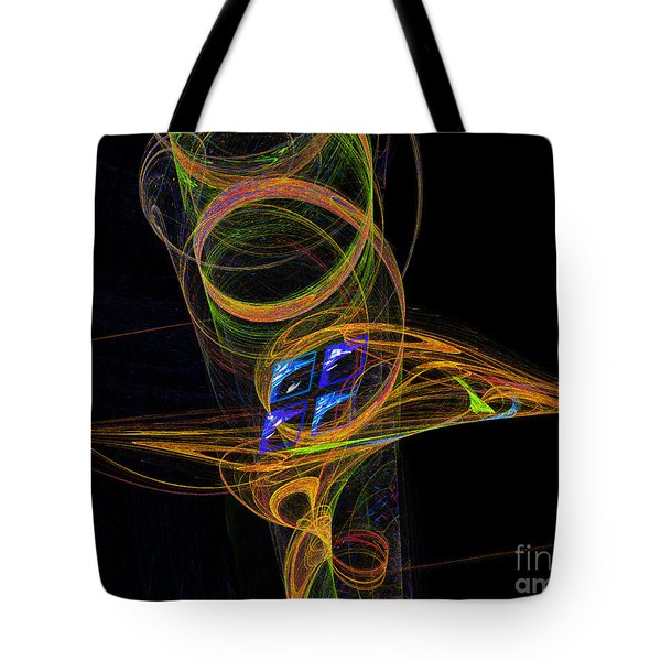 Tote Bag featuring the digital art On The Way To Oz by Victoria Harrington