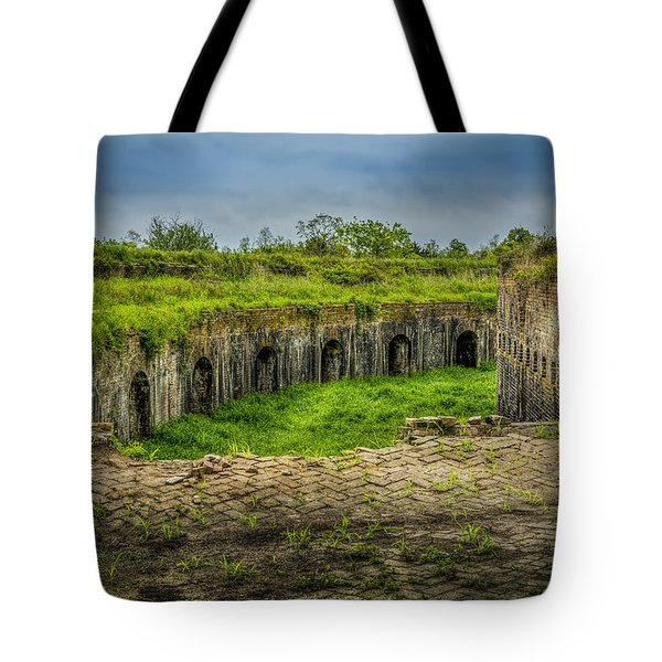 On Top Of Fort Macomb Tote Bag by David Morefield