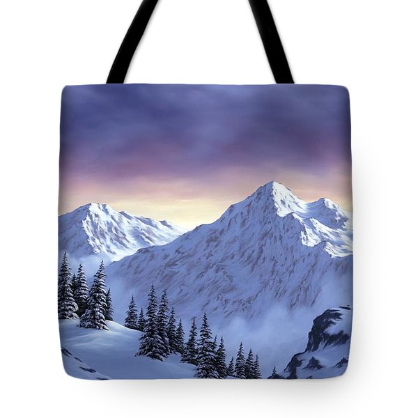On Top Of The World Tote Bag by Rick Bainbridge