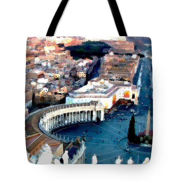 Tote Bag featuring the digital art On Top Of Vatican 1 by Brian Reaves